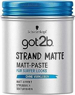Got2b Strand Matte Beach Mat Matt Paste 100 ml, Pack of 2 by göt2b