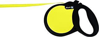 Alcott Reflective Retractable Leashes, Black/Yellow, Large