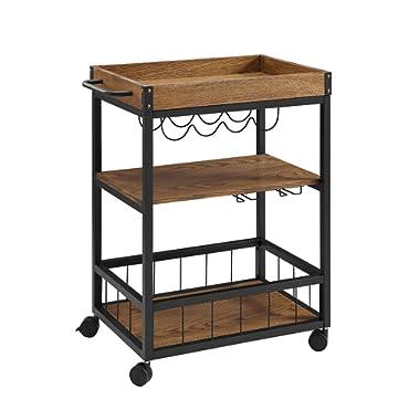 Linon Austin Kitchen Cart, 30.5 W x 18.13 D x 36.25 H, Black