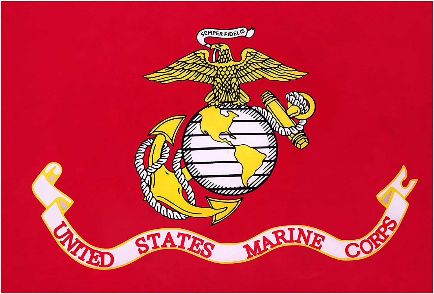 New York Mall Volta US Marine Corps Flag 3X5 Vivid Co and Sided Max 43% OFF Double Outdoor