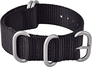 Ritche 22mm NATO Strap Black NATO Watch Strap Compatible with Timex Expedition Weekender Seiko NATO Nylon Watch Bands for Men Women