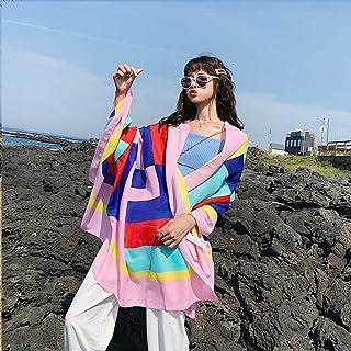 YCC Chales de gasa impresos, toallas de playa, bufandas junto al mar, chales de verano de viaje de vacaciones de gran tama...