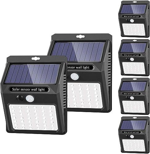[42 LED / 3 Modos ] SEZAC Luces solares Luces con sensor de movimiento solar para exteriores, Luces de seguridad inal...