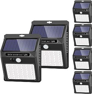 comprar comparacion 42 LED / 3 Modos  SEZAC Luces solares Luces con sensor de movimiento solar para exteriores, Luces de seguridad inalámbri...