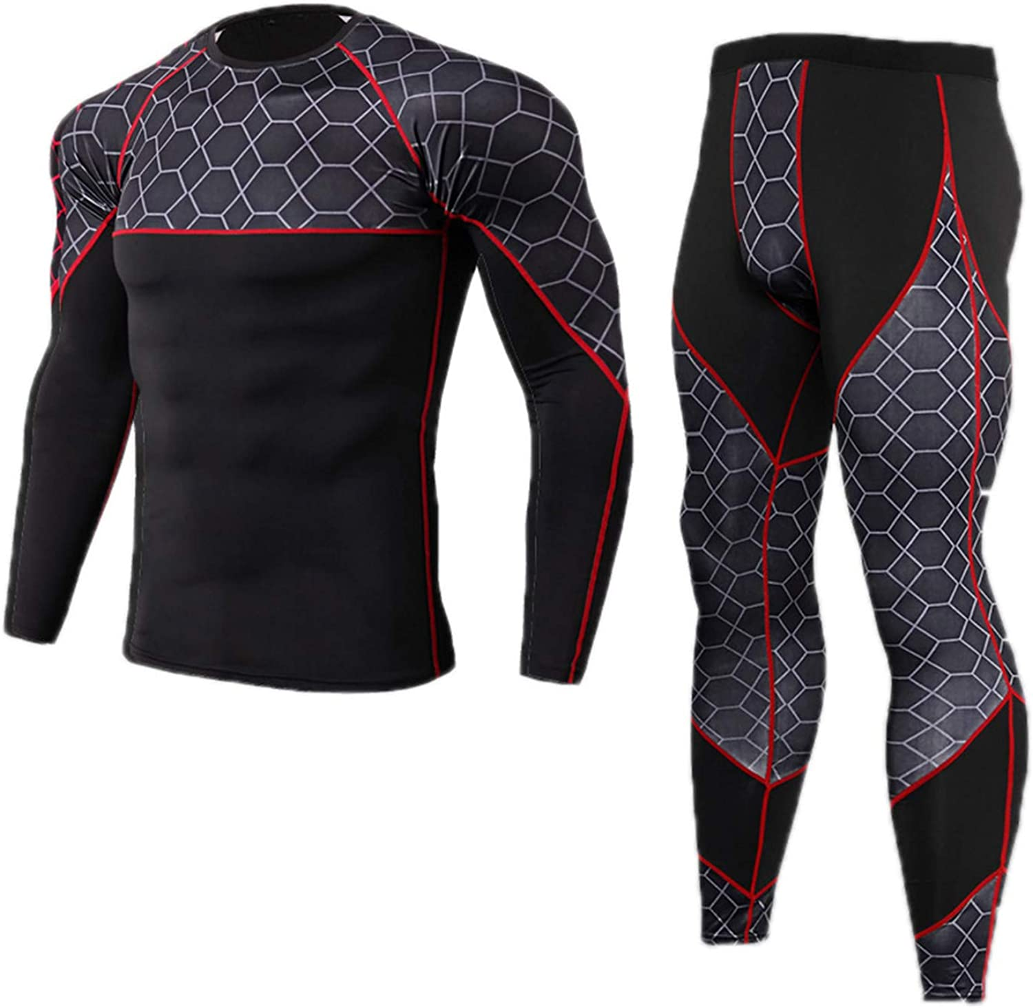 Men Plaid Thermal Underwear Sets Long Johns Winter Clothes Men Thick Clothing