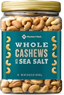 Member's Mark Roasted Whole Cashews with Sea Salt ( 33 oz.) - SCL