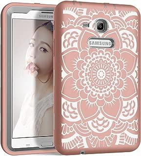 for Samsung Galaxy Tab 3 Lite 7.0 Case,Samsung Galaxy Tab E lite 7.0 PIXIU Heavy Duty Kids Proof Protective Case Cover for Galaxy Tab E lite 7.0 SM-T113 & Tab 3 Lite T110 / T111 / T116 Flower