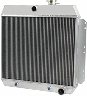OzCoolingParts Pro 4 Row Core Aluminum Radiator for 1949-1954 50 51 52 53 Chevy Bel Air, Sedan Delivery, Styleline Deluxe, Fleetline, L6