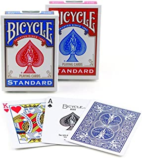 Bicycle Poker Size Standard Index Playing Cards (RED & Blue, 9 Decks)