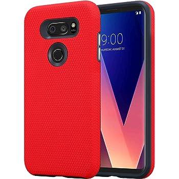 Cadorabo Funda para LG V30 en Rojo Clavel – Outdoor Cubierta ...