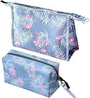 2 bolsas de maquillaje, bolsa de cosméticos, pinceles de maquillaje, bolsa para las mujeres, bolsa de viaje, bolsa de alma...