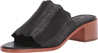 Frye Women's Cindy Wave Mule Heeled Sandal, Black, 8.5 M US
