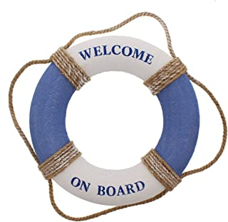 Juvale Life Ring Welcome on Board – Life Ring Swim Tube Decoration DecorLife Ring..