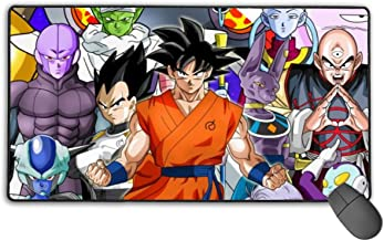 NiYoung Anime Dragon Ball Mouse Pad Cute Water-Resistant Gaming Mouse Mat with Non-Slip Base Stitched Edge, Computer & PC Home Mouse Mat Optimized for Gaming Sensors