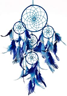 Rooh Dream Catcher ~ Blue 4 Tier ~ Handmade Hangings for Positivity (Can be Used as Home DÃcor Accents, Wall Hangings, Gar...