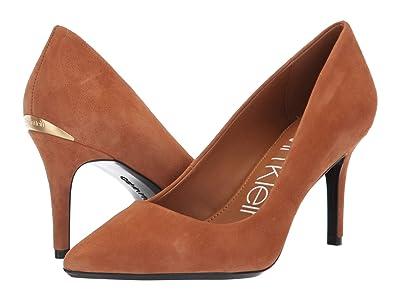 Calvin Klein Gayle Pump (Cognac Leather/Suede) High Heels