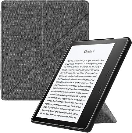 Fintie Kindle Oasis 2017 Funda - Standing Origami Slim Shell Case Funda Carcasa con Stand Función y Auto-Sueño/Estela para Amazon Kindle Oasis (9ª generación, Modelo de 2017), Denim Gray