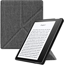 Fintie Origami Case for Kindle Oasis (Previous 9th Gen, 2017 Release)-Slim Fit Stand Cover Support Hands Free Reading with Auto Wake Sleep (Not Fit All-New Kindle Oasis 10th Gen, 2019, Denim Charcoal