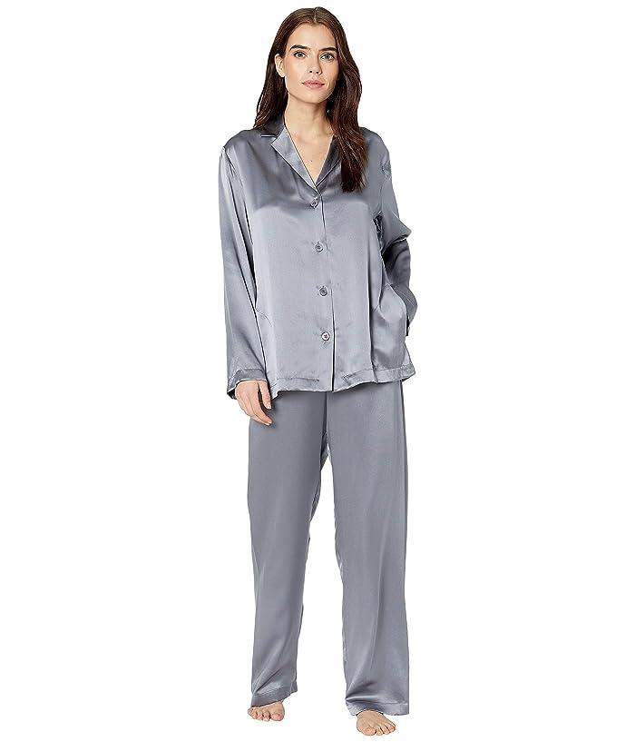 Retro Lingerie – Where to Shop La Perla Silk Pajama Silver Womens Pajama Sets $396.00 AT vintagedancer.com