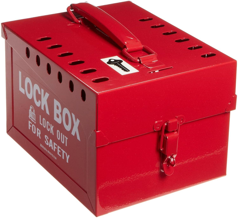 Brady Extra-Large Group Lock Limited price sale Box Red 51171 SALENEW very popular Steel -
