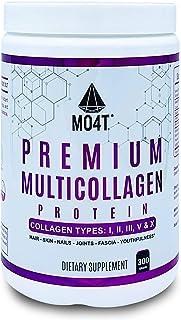 MO4T Hydrolyzed Multi Collagen Powder -Collagen Protein- Pure Grass-Fed Hydrolyzed Collagen Peptides-Type 1,2,3,5,10 -Non-...