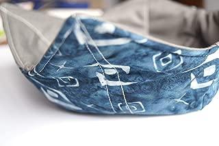 Blue Batik Fabric Microwave Bowl Cozy