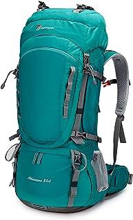 70/80L Mochila de Senderismo Impermeable Gran Capacidad Bolsa de Emergencia Mochila de Trekking con Cubierta de Lluvia para Montañismo, Acampada, Caza