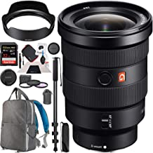 Sony FE 16-35mm F2.8 GM G Master Full-Frame Lens Wide-Angle Zoom E-Mount SEL1635GM Premium Accessory Set with Deco Gear Backpack + Filter Kit + Monopod Bundle