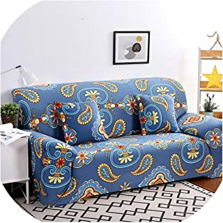 Fyttq 1pc Elastic Sofa Cover Tight Wrap All Inclusive Slip Resistant Sofa Slipcovers Stretch Sofa Towel Single/Two/Three/Four Seater,Color 17,Four Seat Sofa