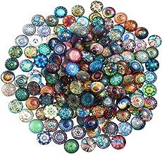 SUPVOX 100 stuks glasnuggets glasmozaïek glasstenen mozaïekstenen halve ronde cabochon glas edelsteen voor doe-het-zelf si...