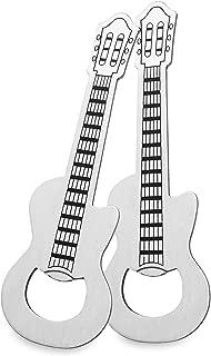LanHong 2 Piece/Set Guitar Bottle Opener Creative Music Beer Opener, Guitar Shaped Bottle Opener for Music Guitar Lover