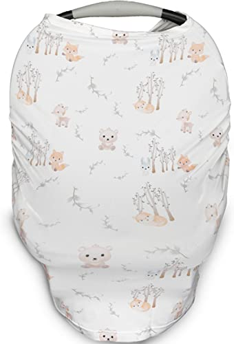 Kids N' Such Baby Car Seat Cover Car Seat Canopy & Nursing Cover, Woodland