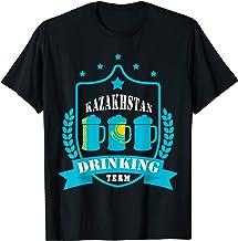 Beer Kazakhstan Drinking Team Casual Kazakhstan Flag T-Shirt