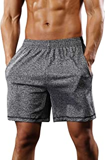 Men's Lightweight Athletic Workout Gym Shorts Running Training Quick Dry Basketball Shorts with Pockets