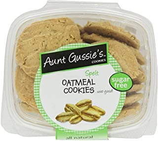 Aunt Gussie's Sugar Free Oatmeal Cookies, 7-Ounce Tubs (Pack of 4) (Packaging May Vary)