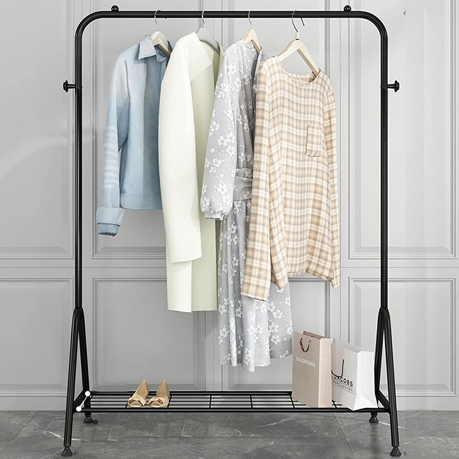 Clothing Display Fort Worth Mall Racks 25% OFF Iron Heavy-Duty Hangers Coat Open Home