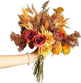 BOSHIYA Vintage Artificial Rose, Daisy, Hydrangea Combination Bouquet Silk Flowers Bouquet ,Realistic Flower Arrangements ...