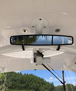 """UTV Rear View Center Mirror, ISSYZONE 15"""" Wide High-Definition Convex Design Mirror with 2"""" Clamps for with Can Am Commander Maverick"""