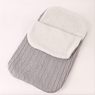 Newborn Baby Swaddle Blanket Sleeping Bag Plus Lamb Cashmere for for 0-12 Month Baby,Suitable for Prams, Cots Or Pushchairs