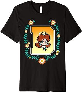 Super Mario Princess Daisy University Letter Portrait Logo Premium T-Shirt