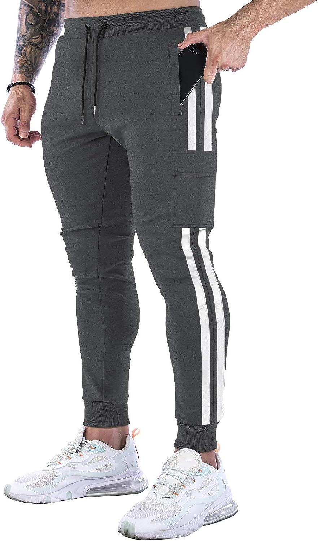 FUGUI Men's Slim Jogger Direct sale of manufacturer Pants Wor Gym Jogging Memphis Mall Sweatpants Tapered