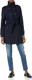 Calvin Klein Women's Wool Belted Double Breasted Coat