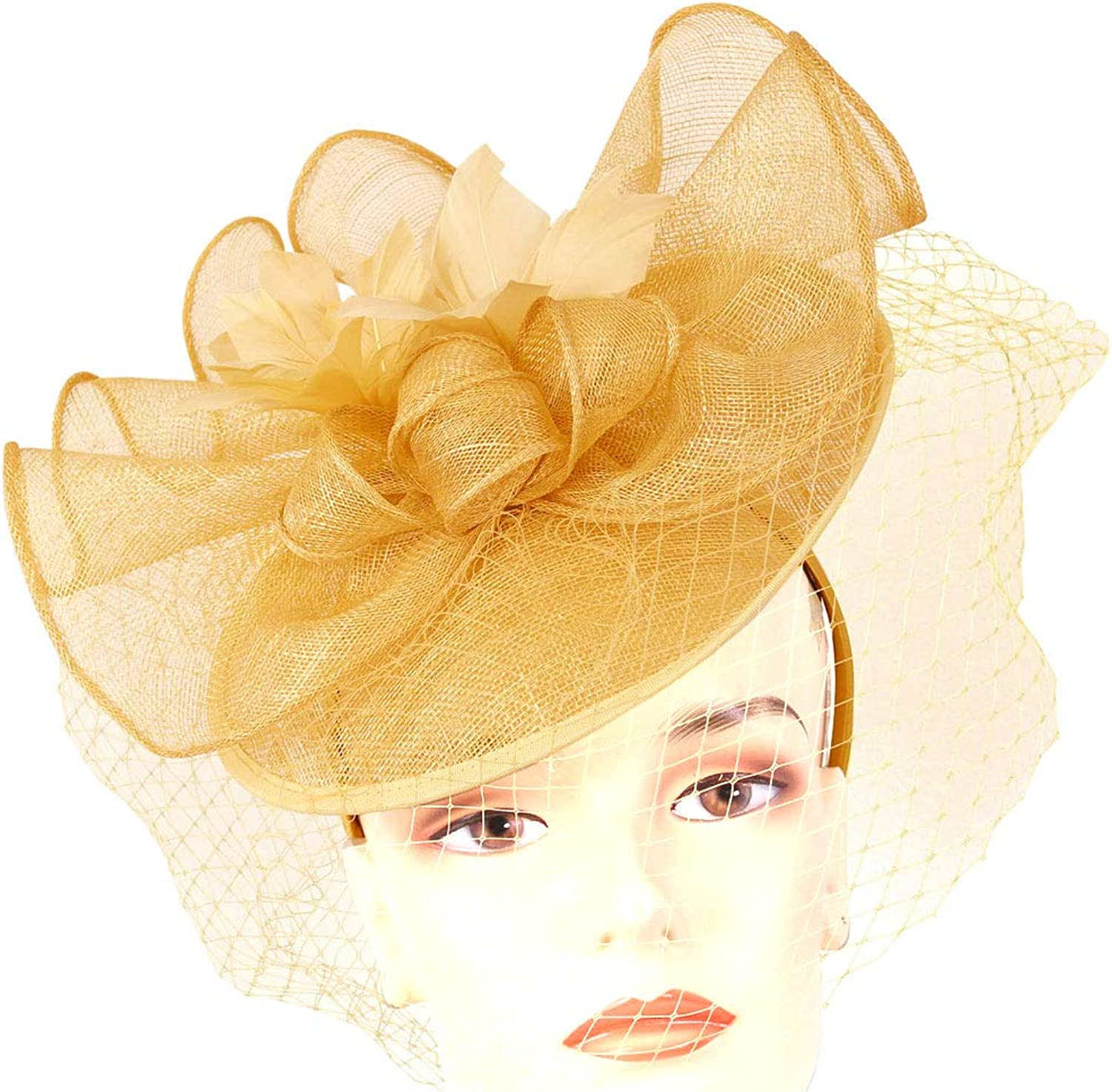 Ms. Divine Collections Women's Sinamay Derby Church Fascinator Hats - HL68