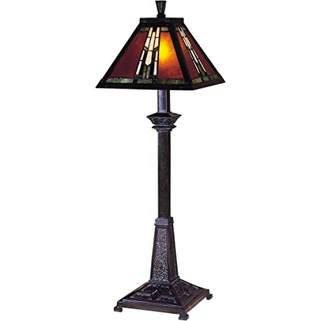 Dale Tiffany TB100715 Tiffany One Light Table Lamp from Buffet/Accent Collection Dark Finish, 10.00 inches, Mica Bronze