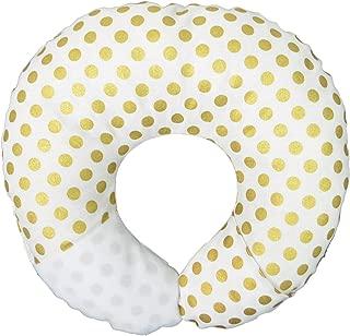 Babymoon Pod 4-in-1 Multipurpose Infant Pillow for Flat Head Prevention, Tummy Time, Nursing, Travel (Gold Dot)