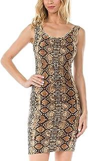 Melisse & Co. USA Sexy Animal Snakeskin Leopard فساتين حريمي عليها طباعة الفهد
