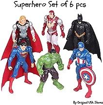 Superhero Avengers Marvel Legends Collectible Model | 6 Piece Action Figure Set | Cake Topper