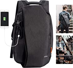 Overmont Laptop Backpack for School Travel Computer Bag Anti-Theft Leisure Daypack Bussiness Backpack with USB Charging Port Waterproof Bookbag for College Students Fits Under 17.3 inch Laptop