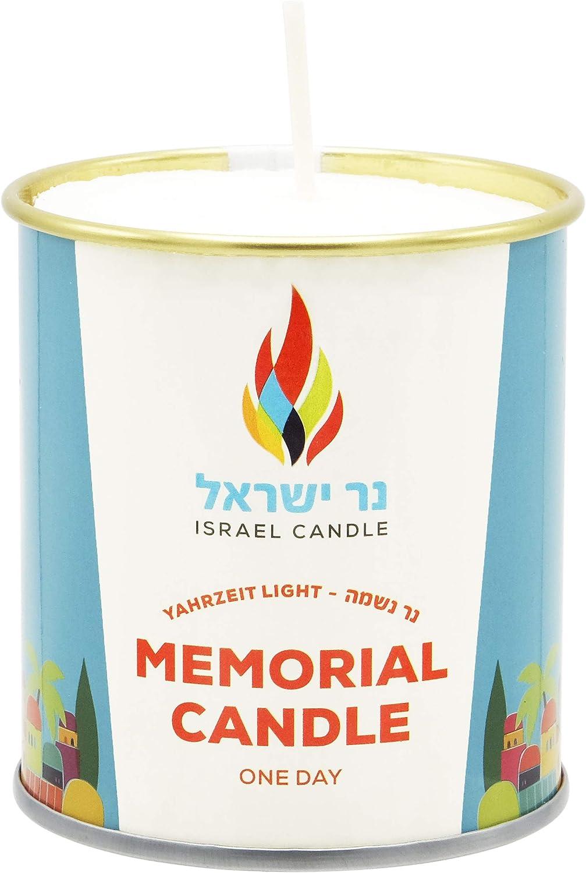 The Dreidel Company Tin Candle Memorial Jacksonville Mall Low price Single Yahrzeit