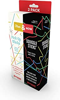 Pressman Toys Then & Now: Pickup Sticks and Squiggly Sticks Game (1 Player)